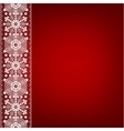 Lace border with snowflakes vector image