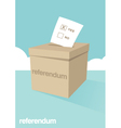 Referendum Ballot Box vector image