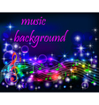 bright shiny neon background music vector image