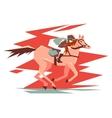Equestrian horse racing vector image