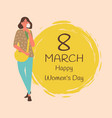 8 march happy womens day love spring poster vector image vector image
