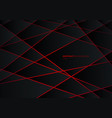 abstract black geometric polygon on red laser vector image vector image