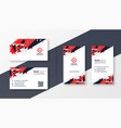 abstract red and black business card design vector image vector image