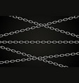 abstract silver chain background vector image vector image