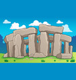 ancient stone monument theme 2 vector image