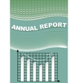 Annual report cover with graph and cifer group on vector image vector image