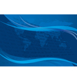 background with blue wavy elements vector image