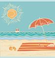 beach scene sea landscape vector image