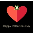 beautiful love frog vector image