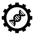 biotechnology industry icon on white background vector image vector image