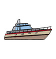boat tourist yacht to travel by sea transport vector image