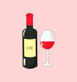 bright simple cartoon wine vector image