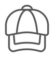 cap line icon clothing and casual hat sign vector image vector image