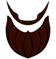 cartoon icon poster beard beaver bearded man vector image vector image