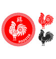 chinese zodiac symbol rooster vector image vector image
