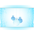 Christmas bauble panel background landscape vector image vector image