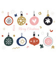 christmas set with balls and baubles scandinavian vector image vector image