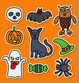 collections halloween sticker good for your print vector image