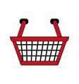 color image cartoon shopping basket with double vector image vector image