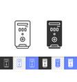 computer case simple black line icon vector image vector image