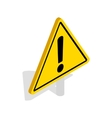 Danger warning sign icon isometric 3d style vector image vector image