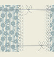 elegant lace frame with stylish background vector image vector image