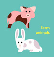 farm animals pig and rabbit vector image vector image
