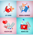 first aid realistic concept vector image
