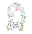 floral art ornament decorative flowers and swirls vector image