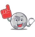 foam finger football character cartoon style vector image