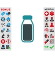Full Bottle Icon vector image vector image