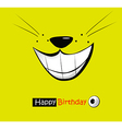 funny card smile vector image vector image