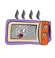 Funny doodle cartoon microvave vector image vector image