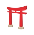Gate Torii icon cartoon style vector image