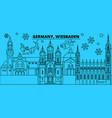 germany wiesbaden winter holidays skyline merry vector image vector image