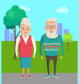 grandmother and grandfather couple elderly people vector image vector image