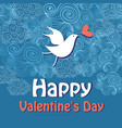 greeting card with love bird vector image vector image