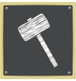 hammer icon Epschalk drawn in sketch vector image