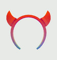 hoop with devil horns for vector image vector image