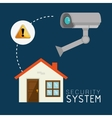 house security system design vector image vector image