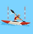 kayak slalom canoe race symbol vector image vector image