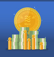 libra currency with cash money in flat style vector image vector image