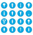 light bulb icon blue vector image vector image