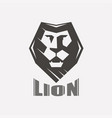 lion face stylized symbol logo or label template vector image