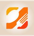logo or logo for a restaurant cafe or diner vector image