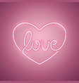 love neon sign rose vector image vector image