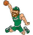 lumberjack sports logo mascot basketball vector image vector image