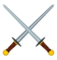 Medieval swords icon flat style vector image