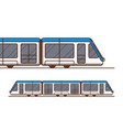 modern high speed train subway or metro vector image