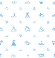mountain icons pattern seamless white background vector image vector image